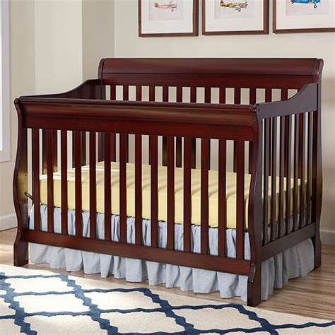 Delta Canton 4 In 1 Convertible Crib Espresso Cherry Sleigh Cribs Easy Home Concepts