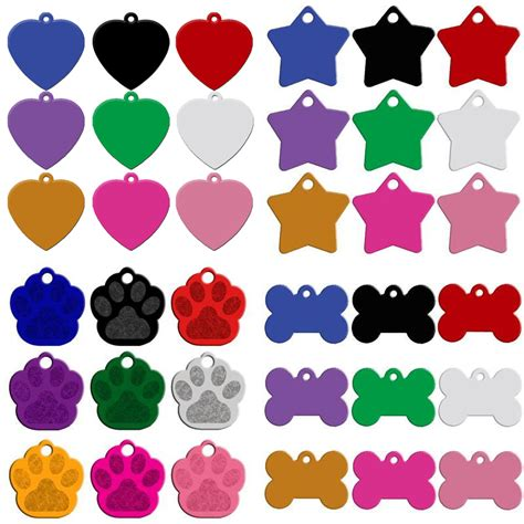 puppy name tags moq 80pcs lot engaved sides personalized name tags pet id phone number