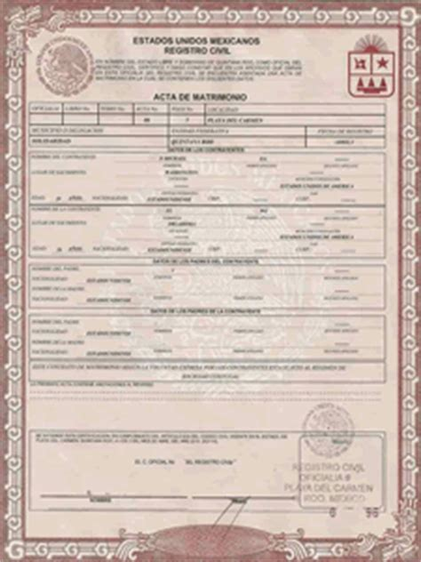 mexican birth certificate template mexican birth certificate translations marriage
