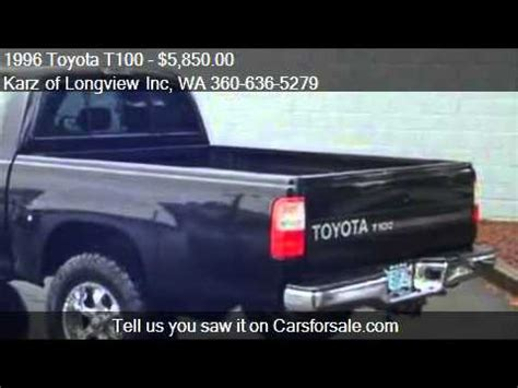 Toyota T100 For Sale Craigslist 1996 Toyota T100 Ext Cab Sr5 Pkg 4x4 For Sale In