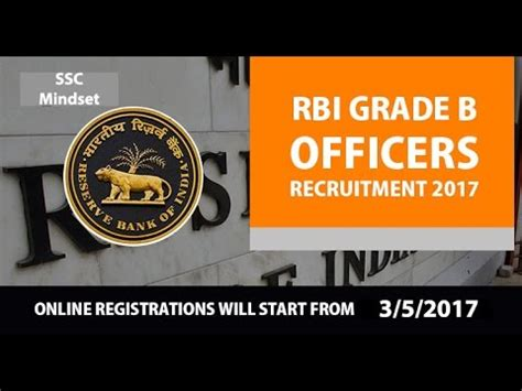 Rbi Recruitment For Mba 2017 by Rbi Recruitment 2017 Grade B Officer Vacancy Salary