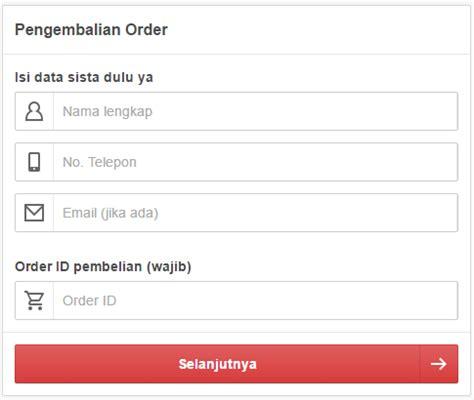 Pesanan Sale ssindo cara pengembalian order pesanan sale stock