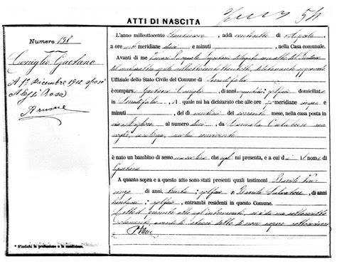 Italian Birth Records Free Birth Certificate Translation Template To Italian Choice Image Certificate