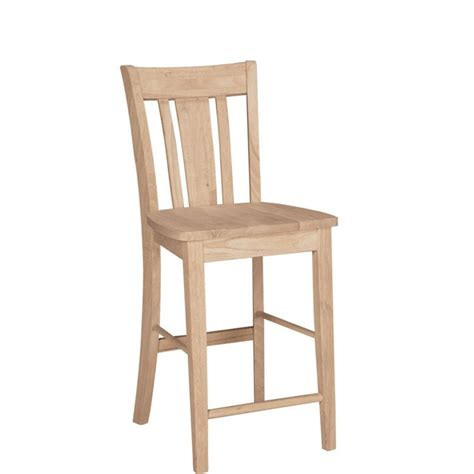 Unfinished Wood Bar Stool International Concepts 24 In Unfinished Wood Bar Stool S 102 The Home Depot