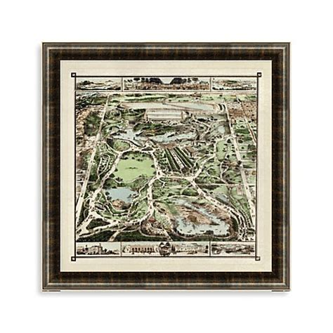 central park bathroom map buy central park map quot framed art from bed bath beyond