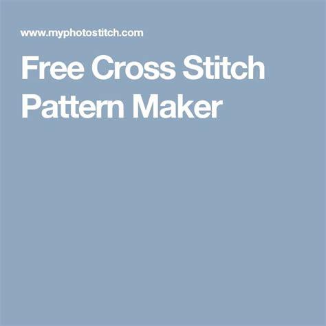 pattern generator online free free cross stitch pattern maker pinteres