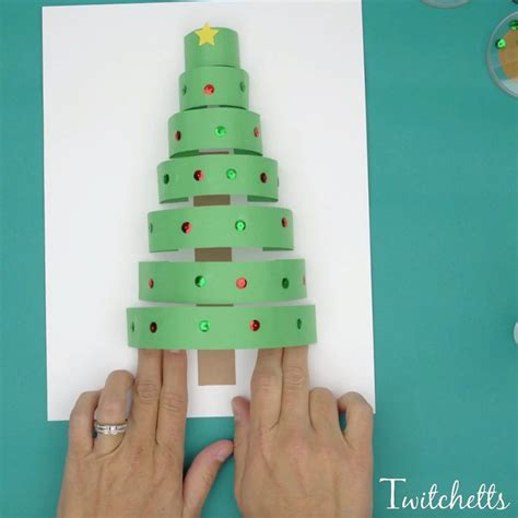 Construction Paper Crafts For Preschoolers - 3d paper tree crafts for