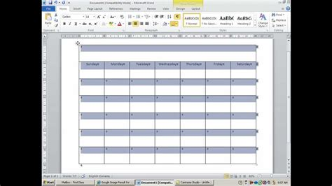 how to make a calendar in word how to create and customize calendar in ms word