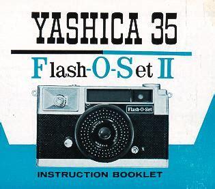 yashica 35 flash o set instruction manual, user manual
