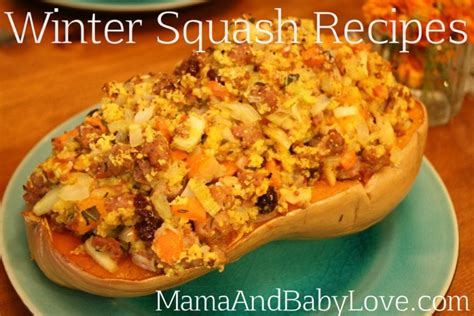 winter squash recipes mama baby love