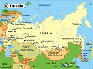 Map Of Usa And Russia by General Map Of Russia And Surrounding States Pictures To