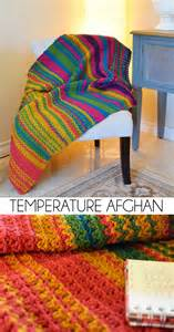 Crochet up a temperature afghan in homage by recording the temperature