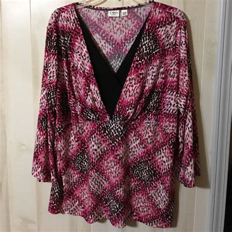 Branded Cato Vneck Blouse 32 cato tops cato pink and black v neck blouse size 18 20w from brenda s closet on poshmark