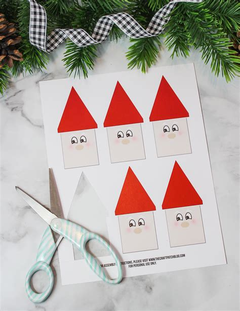 the craft patch popsicle stick santa christmas craft for kids
