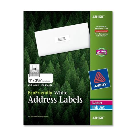 printing address labels hp printer avery mailing label ld products