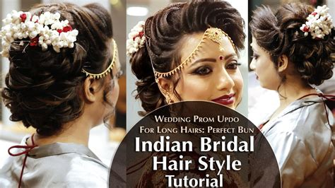 Wedding Hair Buns Indian Style by Indian Bridal Hair Style Hair Bun Tutorial