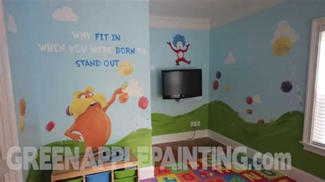 Green Bedroom Paint Ideas dr seuss mural kids bedroom ideas kids playroom youtube