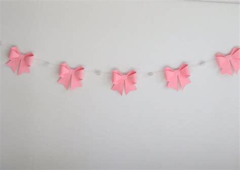 Pink Origami Paper - hanging ribbon pink origami paper 2016