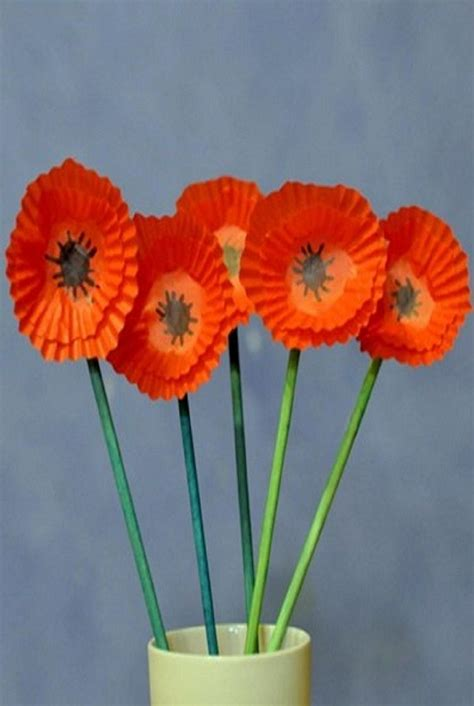Paper Crafts For Seniors - make paper poppies memorial day activity ideas for