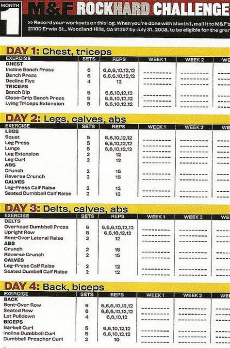 Workout Plans For Men To Build Muscle At Home | 1000 ideas about weight lifting routines on pinterest