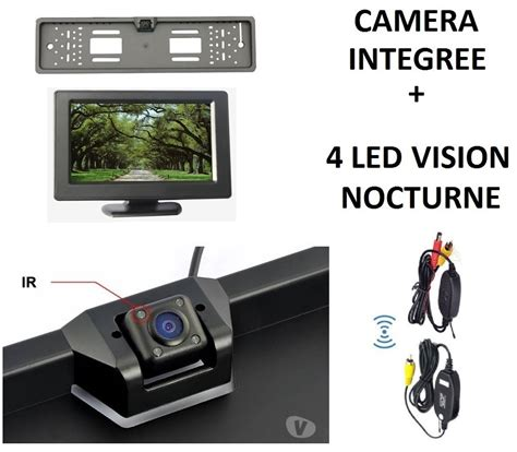 eclairage ecran de recul sans fil 4 led eclairage sur support