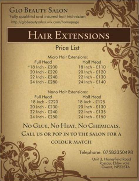 make price hair extension price list advertising hair