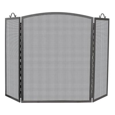 fireplace screen home depot uniflame arch top olde world iron 3 panel fireplace screen