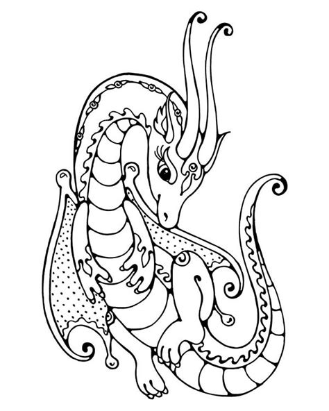 coloring pages of cute dragons coloring pages dragon whimsy pinterest dragons and