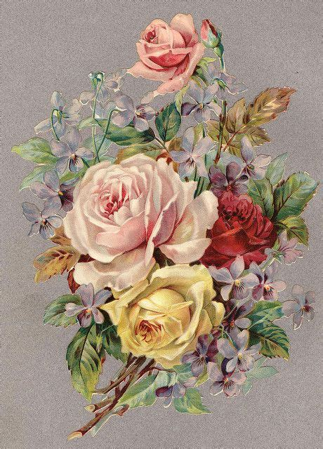 antique rose tattoo rosenbukett vintage florals vintage