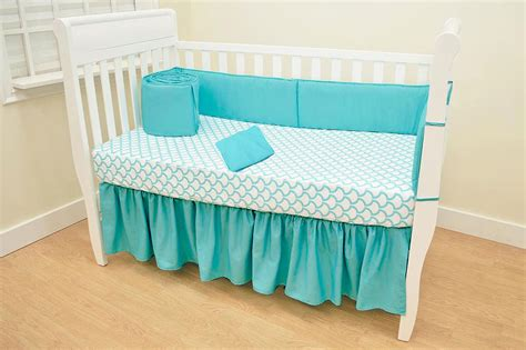 American Baby Company Crib Bedding American Baby Company Cotton Percale 4 Crib Bedding Set Aqua