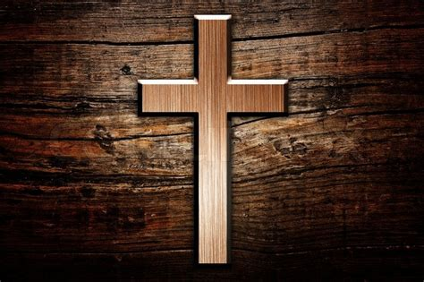 themes in god s bits of wood cross on wood background stock photo colourbox
