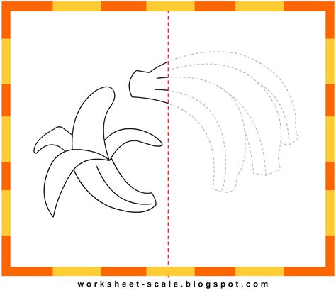 draw to scale free free printable drawing worksheets for banana worksheet