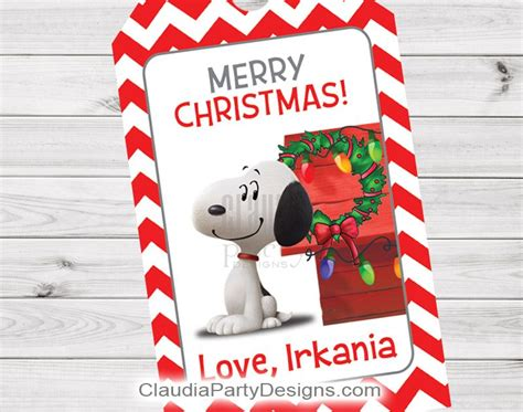 printable snoopy christmas gift tags snoopy gift tags christmas classroom gift tags claudia
