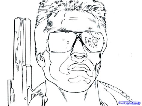 terminator 2 coloring pages