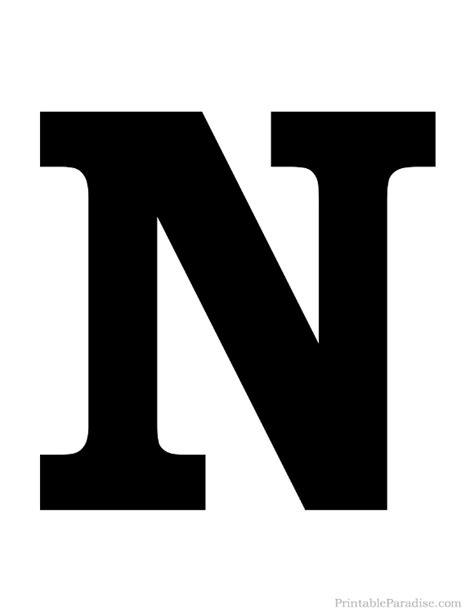 printable letters solid printable solid black letter n silhouette diy