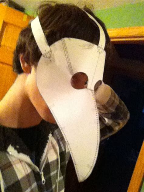 How To Make A Plague Doctor Mask With Paper Mache - plague doctor mask pattern template 7