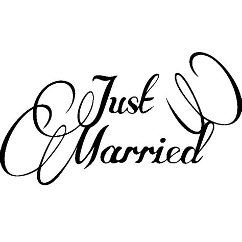 Aufkleber Just Married by Sticker Just Married 2 Stickers Chambre T 234 Tes De Lit