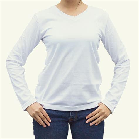 Kaos Wanita Got House Stark toko jual grosir kaos distro kaos polos lengan panjang putih wanita v neck murah