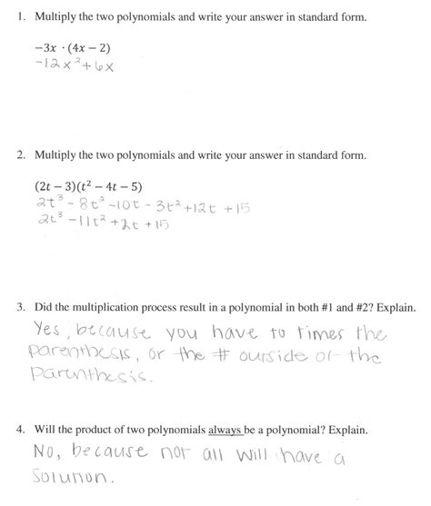 Polynomial Word Problems Worksheet by Adding And Subtracting Polynomials Word Problems Worksheet