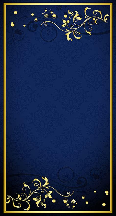 blue and gold background blue gold pattern shading background golden flower