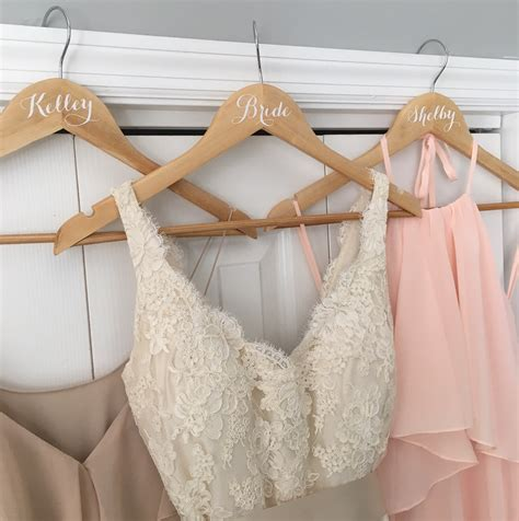 personalized wedding hangers made with cricut explore air coastal kelder