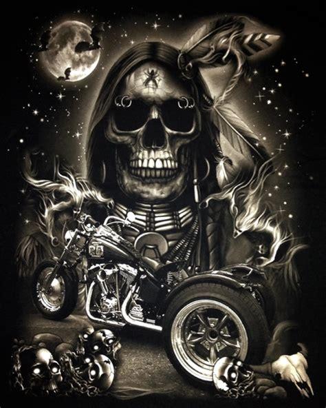 indian skull chopper trike t shirt biker mens t shirts