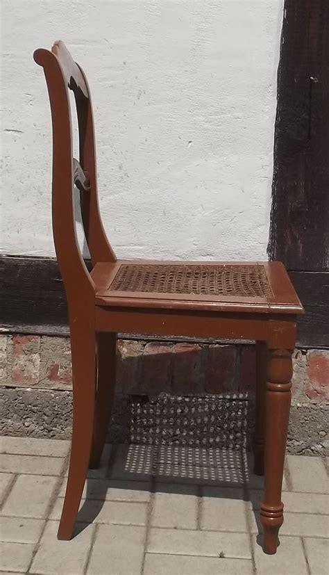 Stuhl Geflochten by Stuhl Sp 228 Tes Biedermeier Um 1860 Sitzfl 228 Che Geflochten Ebay