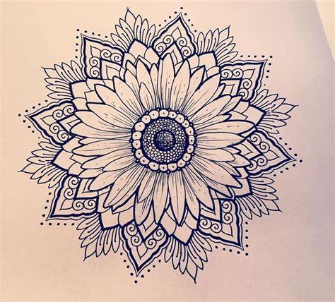sunflower mandala tattoo best 25 sunflower mandala ideas only on