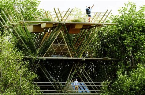 penda s modular bamboo hotel connects you with nature