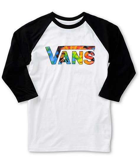 vans boys tie dye baseball t shirt