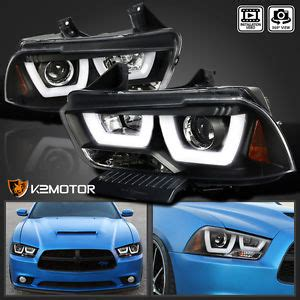 2011 2014 dodge charger black dual halo led drl strip
