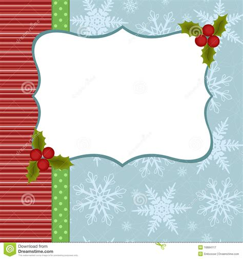 Blank Template For Christmas Greetings Card Stock Vector Image 16684117 Family Card Template 2
