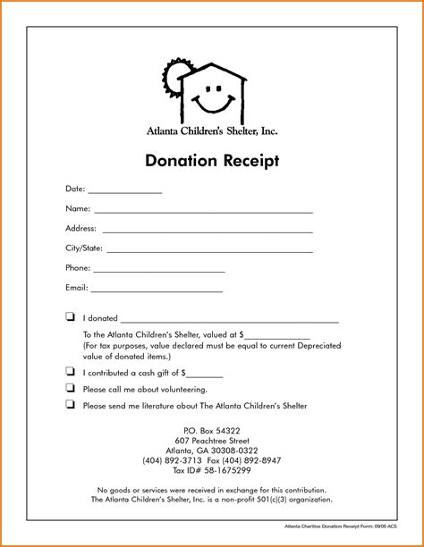 letter template for a in donation receipt non profit donation receipt templatereference letters