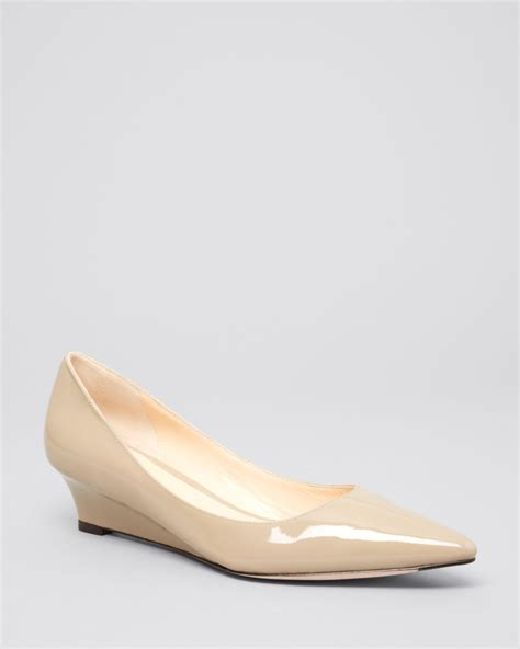 cole haan pointed toe wedge pumps bradshaw in lyst